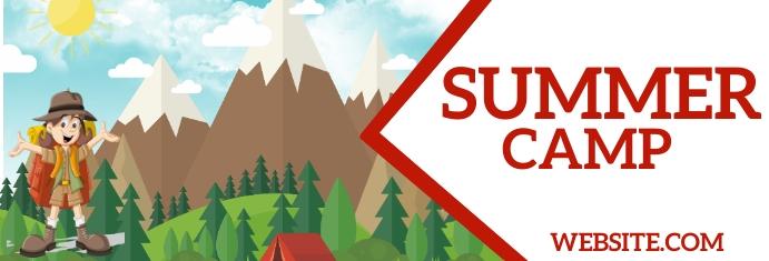 Summer Camp Spanduk LinkedIn template