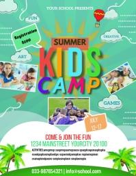 Summer Camp Pamflet (Letter AS) template