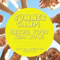 Summer camp Instagram-bericht template
