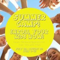 Summer camp Instagram-bericht template