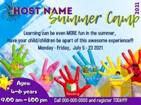 Summer Camp Flier Presentation template