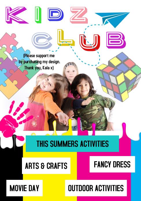 Summer Camp Flyer A5 template