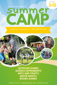 Summer Camp Flyer Template Poster