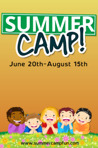 free summer camp flyer template  Customizable Design Templates for Summer Camp Poster | PosterMyWall