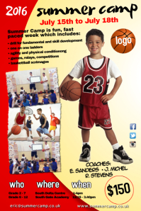 2 690 customizable design templates for basketball summer camp