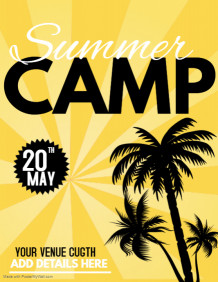 summer camp flyers,event flyers,spring