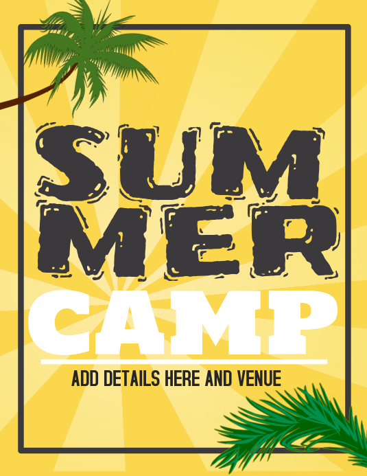 summer camp flyers,event flyers