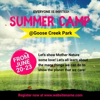 Summer Camp Instagram Post template