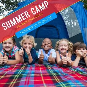Summer Camp Instagram template