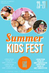 Summer camp kids Festival Flyer Template