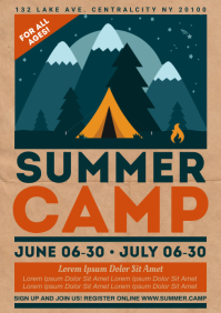 SUMMER CAMP POSTER A4 template