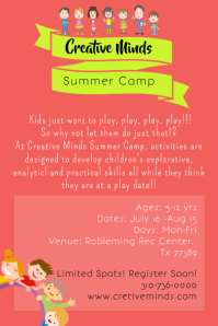 Summer Camp Poster/ Flyer Template