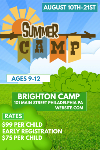 Customizable Design Templates For Summer Camp Poster