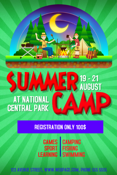 Summer Camp Flyer Template Postermywall