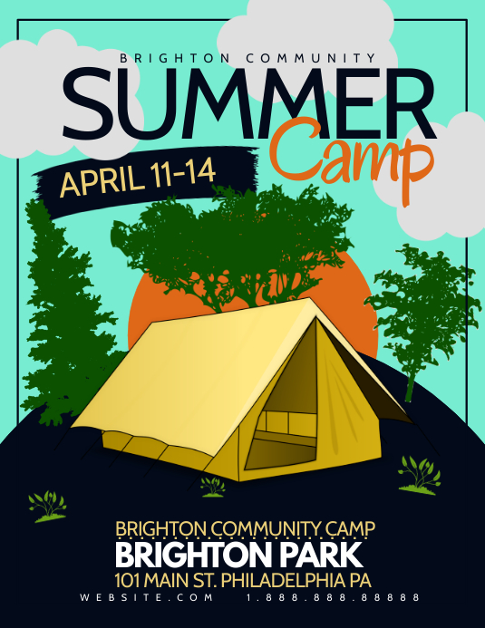 Summer Camp Flyer (US Letter) template