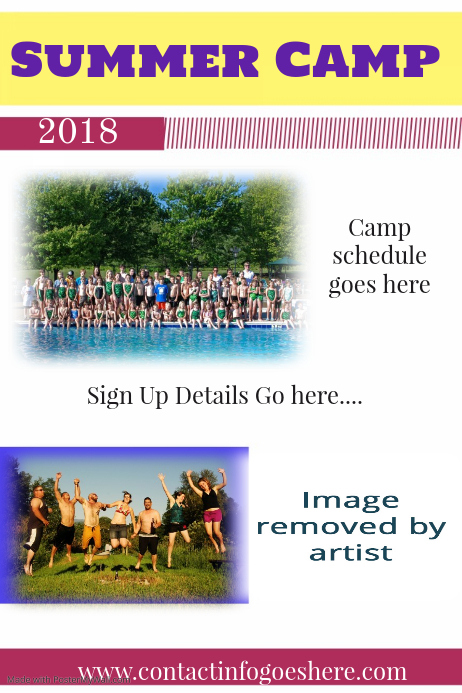 summer camp pricing flyer poster small business template postermywall