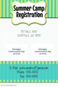 Summer Camp Sale Children's Event flyer picnic party poster