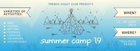 Summer Camp Scouts Recruitment Banner