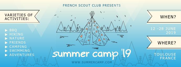Summer Camp Scouts Recruitment Banner