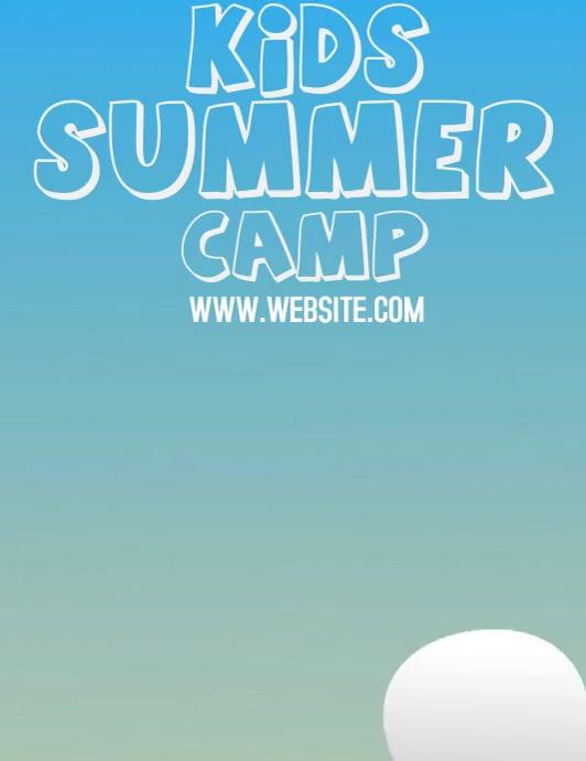 SUMMER CAMP TEMPLATE Volante (Carta US)