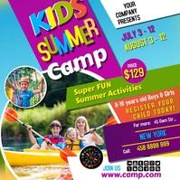 Summer camp video1 Instagram Post template