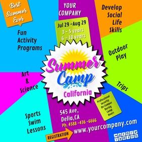 summer camp1 insta Instagram Post template