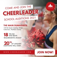 Summer Cheerleader Tryouts Instagram Template