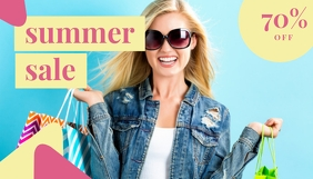 Summer Chic Sale Header Blog template