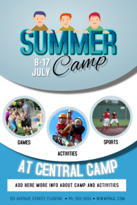Summer Children Kids Camp Poster Flyer Template