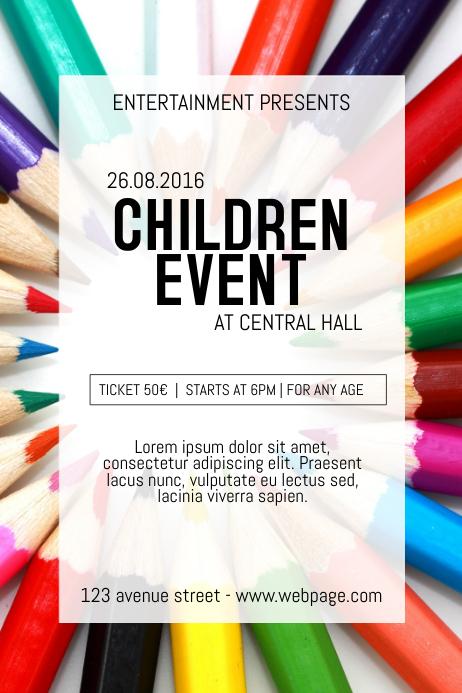 Summer Children Kids event ccourse Poster Flyer Template