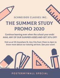 Summer Classes Schedule Template Flyer (US Letter)