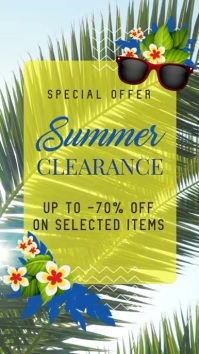 Summer Clearance Sale Digital Display Video Template 数字显示屏 (9:16)