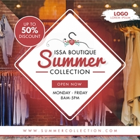Summer Clothes Collection Instagram Post Temp template
