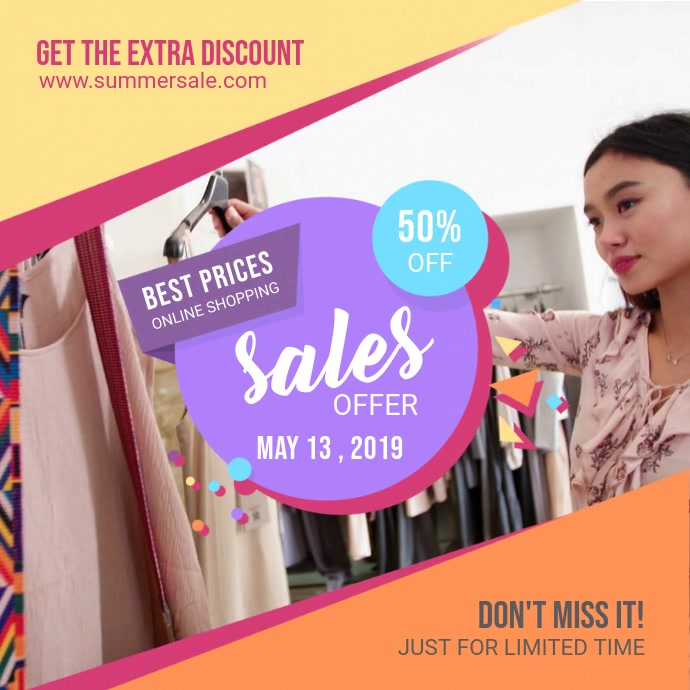 Summer Clothes Sale Online Ad