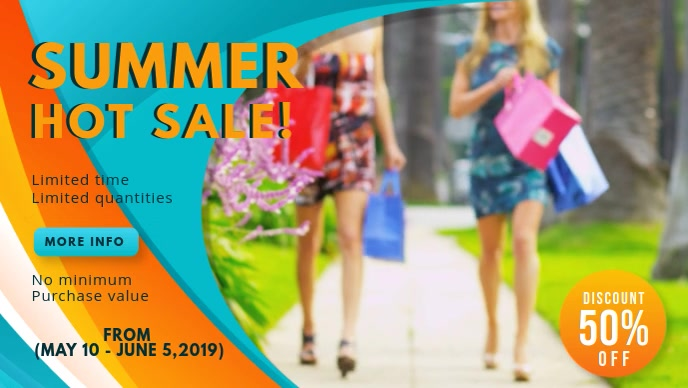 Summer Clothes Sale Retail Banner
