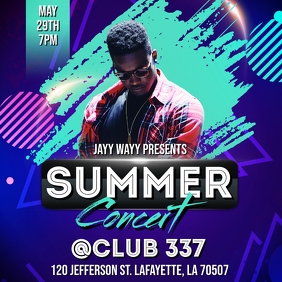 SUMMER CLUB CONCERT FLYER TEMPLATE