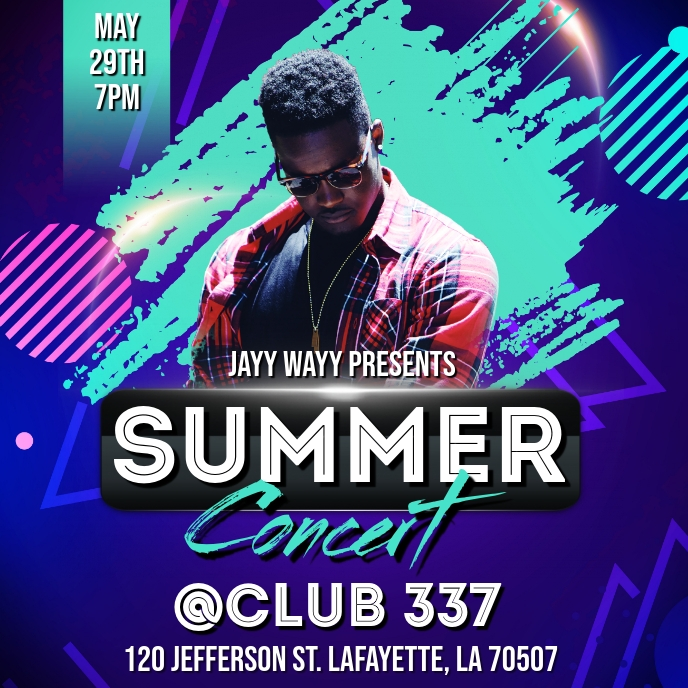 SUMMER CLUB CONCERT FLYER TEMPLATE Albumhoes