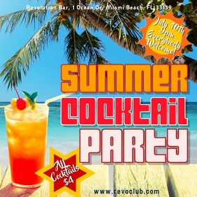 Summer Cocktail Party Digital Template