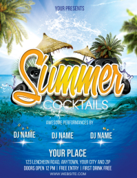 SUMMER COCKTAIL PARTY EVENT Design Template