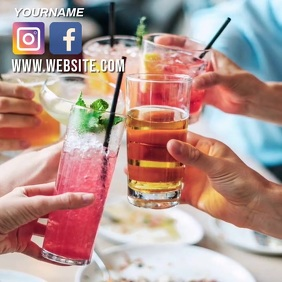 SUMMER COCKTAIL PARTY SOCIAL MEDIA TEMPLATE