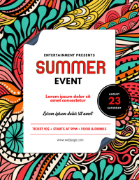 Summer Colorful Event Flyer Template