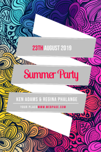 Summer Colorful Party Flyer Template