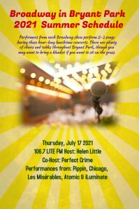 summer concert event flyer poster template