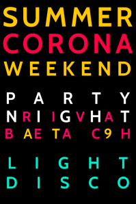 Summer Corona Freedom Party Poster Template