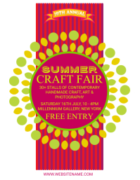 Summer Craft Fair Flyer