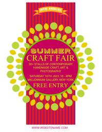 Summer Craft Fair Flyer template