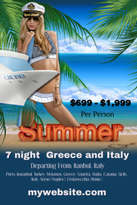 Summer Cruise Line Poster