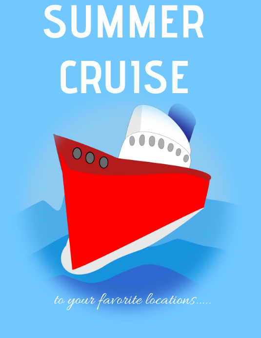 Summer cruise poster Flyer (Letter pang-US) template