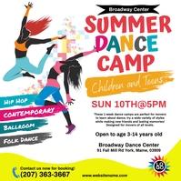 Summer Dance Camp Instagram Post template