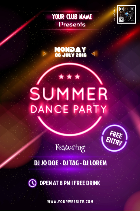 copy of summer dance party poster